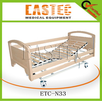 2015 Good sale 3 function home care bed,wooden bed,electric nursing bed