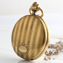 Vintage Brass Horse Steampunk Hand Winding Mechanical Pocket Watches
