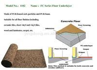 PUR-foam & Cork Floor Underlayer