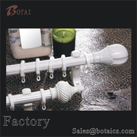 decorative white curtain rod curtain factory in china