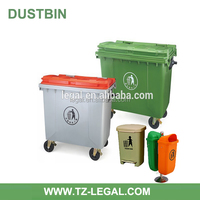 multifunctional dark green color for industry use recycling 1100l plastic garbage bin