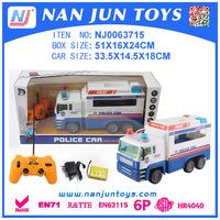 Wholesale plastic rc car police car for kids 2015 hot sale