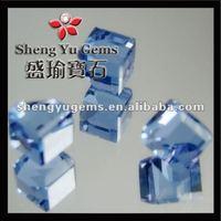 synthetic blue glow gemstone neelam glass stone(GLSQ0031)