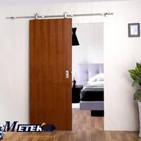 Free sample offered stainless steel barn door hardware sliding wooden door track