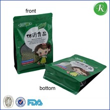 matt surface material food packaging plastic bag with ziplock and window for rice bags custom printed laminated for rice packing
