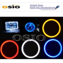 5'S BMC CRYSTAL GLASS with HALO RING 12V/24VAuto Halogen Semi Sealed Beam Auto Halogen Lamp Install H4 or HID H4 Xenon Bulb