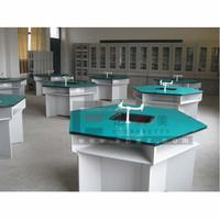 New Arrival School Classroom Study Chemistry Center Table,Round Wooden Chemistry Center Table