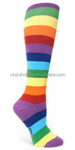 china factory made lady colorful stripes knitting sock