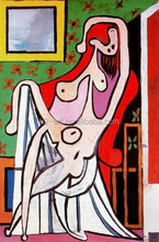 Picasso Large nude in red armchair oil painting for living room