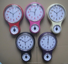 New designed hot selling kitchen timer wall clock 2015