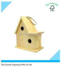 Custom Christmas Decorative Wooden Bird House