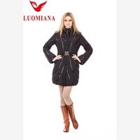 winter feather dress women down coat