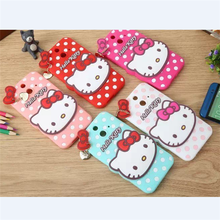Rabbit+Kitty Cat Gel/Silicone Soft Skin cover case For HTC One E8