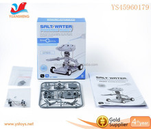 Hot selling salt water power robot toy self assembly toy for kids