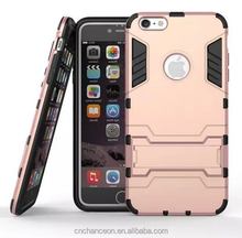 case for iphone 6, Iron man pattern case 2-in-1 stand mobile phone cover for iphone 6 CO-MIX-9031