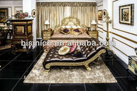 Royal Luxury Classical Bedroom Furniture Set - Bed, Bench, Night Stand, Clothes Rack, MOQ:1SET(B21305)