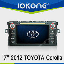 7'' HD Double din Touch screen GPS navigation in dash Car DVD player for Toyota Corolla 2012