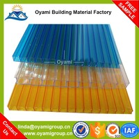 Factory price uv coated corrugated plastic decorative sheet for wall for roofing
