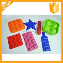 New Design colorful round shape silicone ice cube tray logo printing