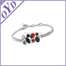 CZ rhinestone bracelet, color rhinestone bracelet jewlery