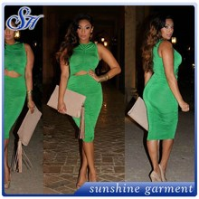 American womens dresses in deep green colour