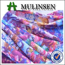 Mulinsen textil 2015 Digital impresa de punto de poliéster FDY dura Spandex tela de la impresión