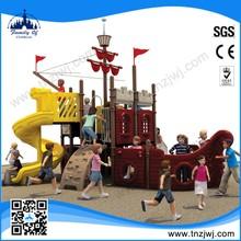 2015 popular design pirate ship kindergarten outdoor play equipment