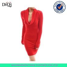 factory price women sexy dress womens long sleeve party sweater dress