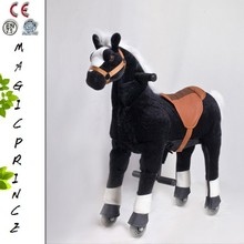(EN71&ASTM&CE)~(Pass!!)~animal toys amazon kiddie rides Plush animal scooter in mall, Ride on Horse on wheels