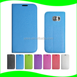 New Products Shockproof phone case Stand Sucker Mobile Phone PU Leather Flip Case For Samsung Galaxy S6