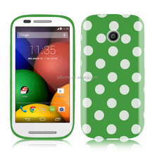 fashionable and colorful polka dots pattern soft TPU gel case For motorola E/ G