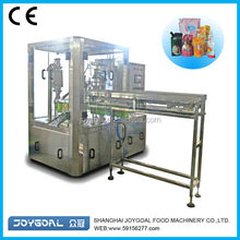 Flavor water pouch with spout filling equipment/flavor water plastic bag filling device