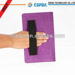 For new google nexus 7 2 purple back stand case cover , hand strap with pen slots