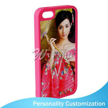 For Iphone 5 Sublimation Blank Phone Case 2D fashion cell phone compact mirror cases cover