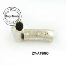 11 x 7 mm Tube Spacer - Finding - Old Silver tube color for Thick leather cords - Wholesale - Spanish - High Quality - Europea