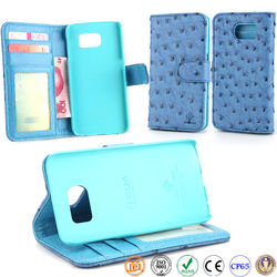 for S6 genuine leather flip mobile phone case