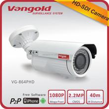 China best buy CCTV camera outdoor HD SDI 1080p 2.2 mp IR camera