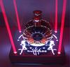 Beautiful wine holder laser arylic single led wine bottle holder