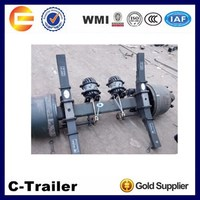 Outboard Drum Square Tube Rear American Type Heavy Duty 13 Tons Truck Parts Manufacturer Semi Trailer Axle