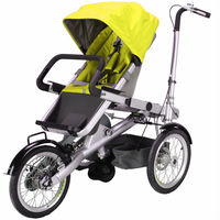 2015 new 3 in 1 pram mother baby stroller bicycle