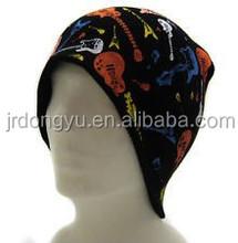 cheap print knit mens beanie hat