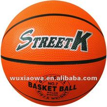 Rubber basketball / Classic orange basketball / Official size basketball(RB001)
