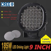 High intensity 12v automobile 9 inch worklighting 185w led spot light JT-15185-1