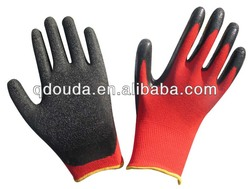 13G Polyester with Crinkle Latex Coated Woring Gloves