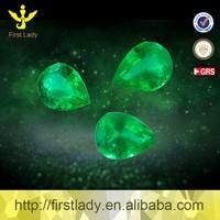 Excellent Quality Emerald Pear Cut 3*4mm 0.15ct Natural Emerald Price Per Carat