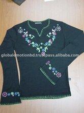 2012 fashionable beaded lady t shirts
