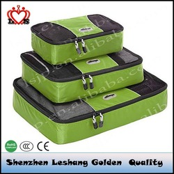 Cheap and Good quality 3pc Set TechLite Diamond Nylon Travel Packing Cubes for clothes, jeans