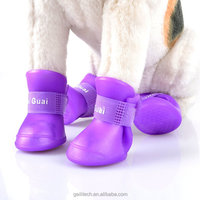 Wholesale Dog shoe For Rain Days Candy Colors Dog boots Waterproof Protective Vinyl dog rain shoe S M L