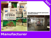 Fully automatic spout pouch juice packing machine/spout bag filling capping machine