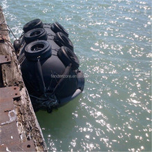 Floating boat dock rubber bumper used for oil cargo ships